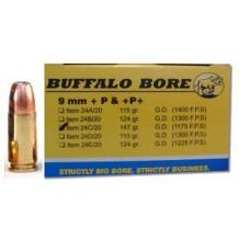 BUFFLO BR 9MM+P+ 147GR JHP 20/240