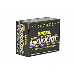 SPR GOLD DOT 9MM 124GR HP 20/500