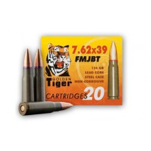 GOLDEN TIGER 762X39 124GR FMJ 20/